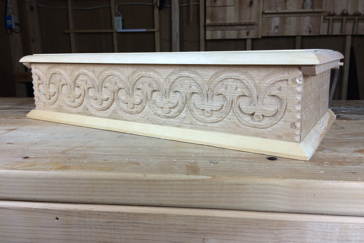 Carved Box © Bob Rozaieski Fine Woodworking Custom Furniture & Restoration Woodworking in Independence Grayson County VA
