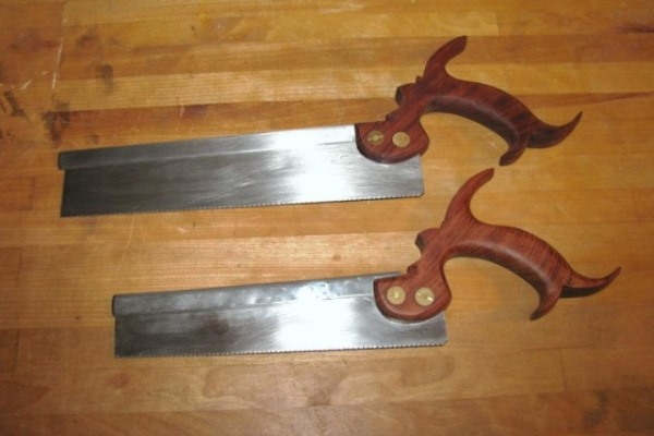 My old dovetail and carcass saws.  These were the first two saws that I ever made.