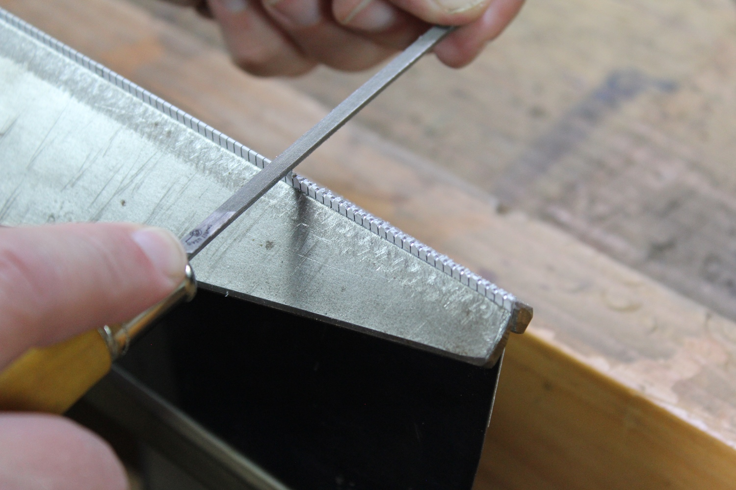 Filing New Saw Teeth