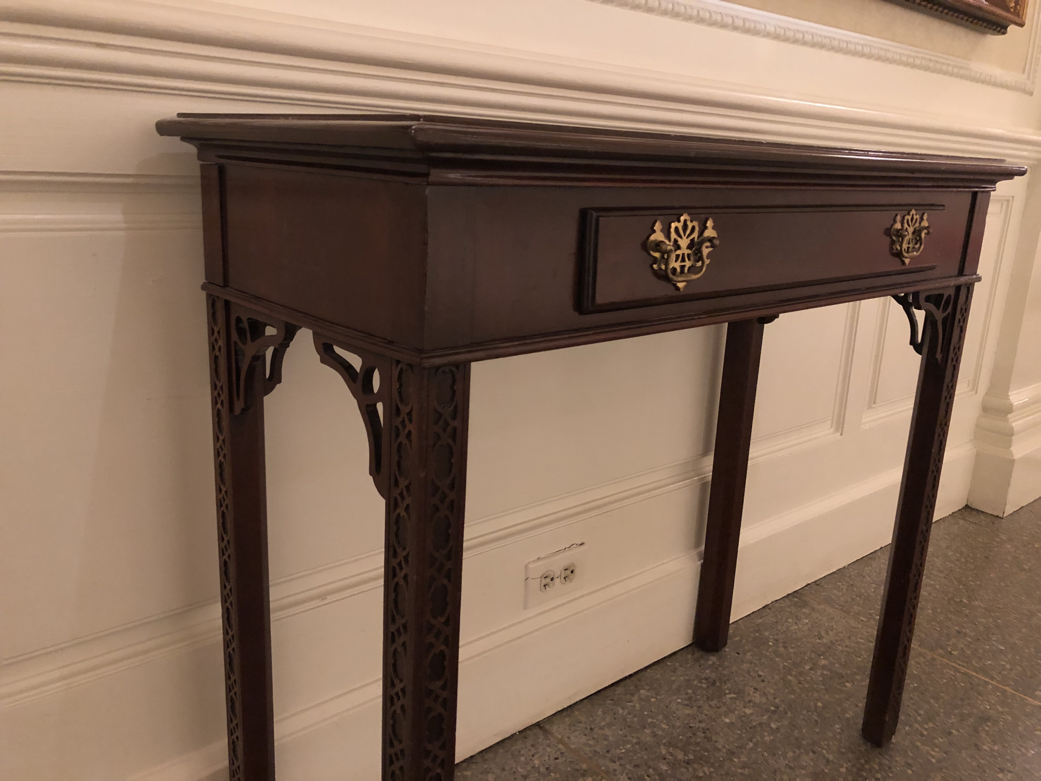 """Chippendale"" Style Side Table at Disney's Epcot"