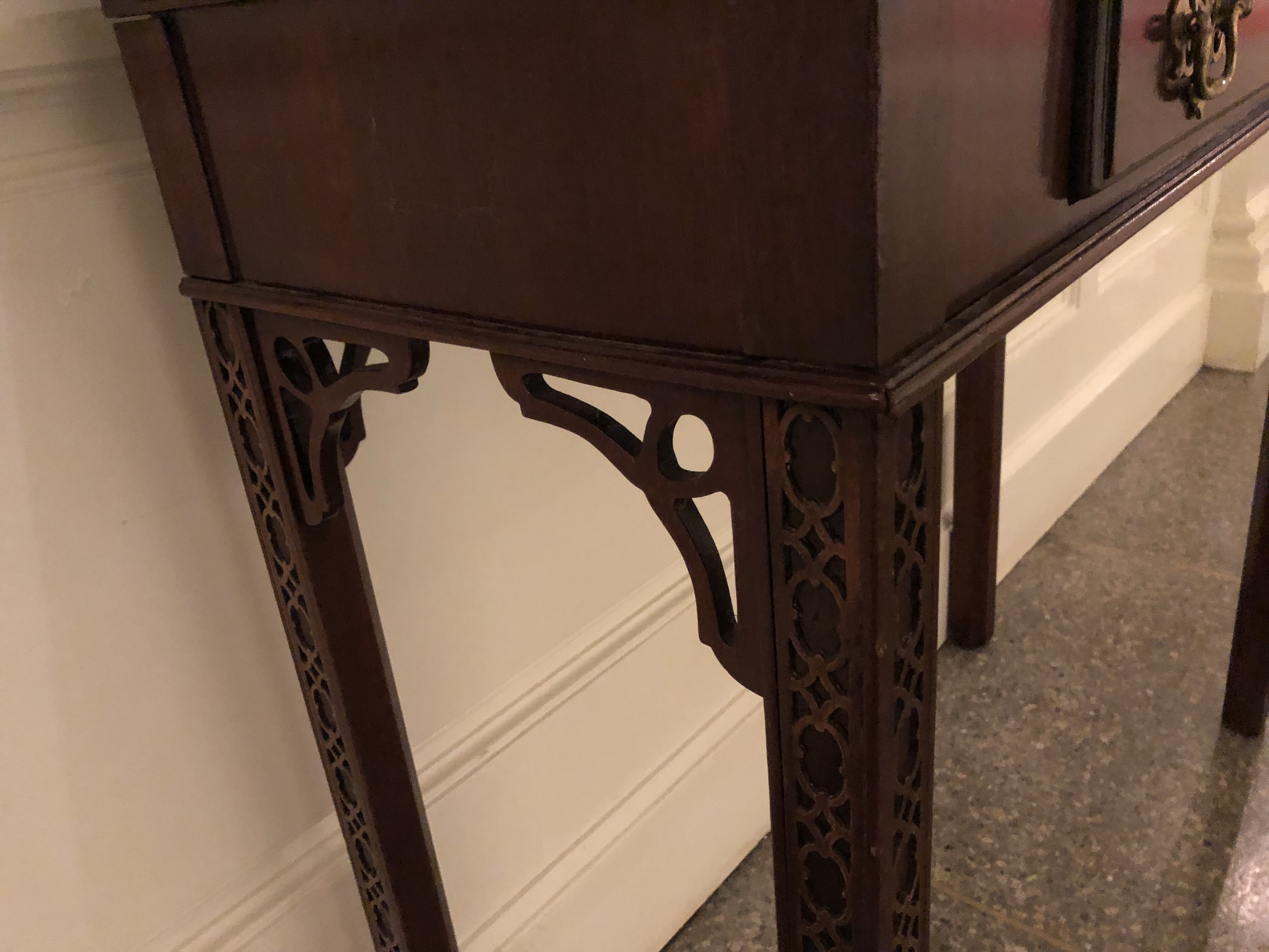 """Chippendale"" side table leg detail"
