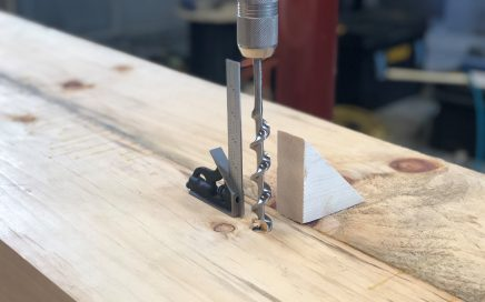 Boring Straight with a Brace and Bit Using a Square