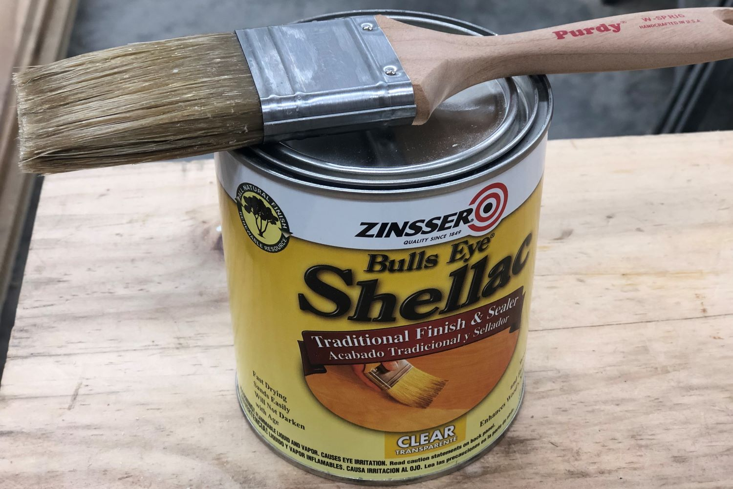 cleaning shellac brush