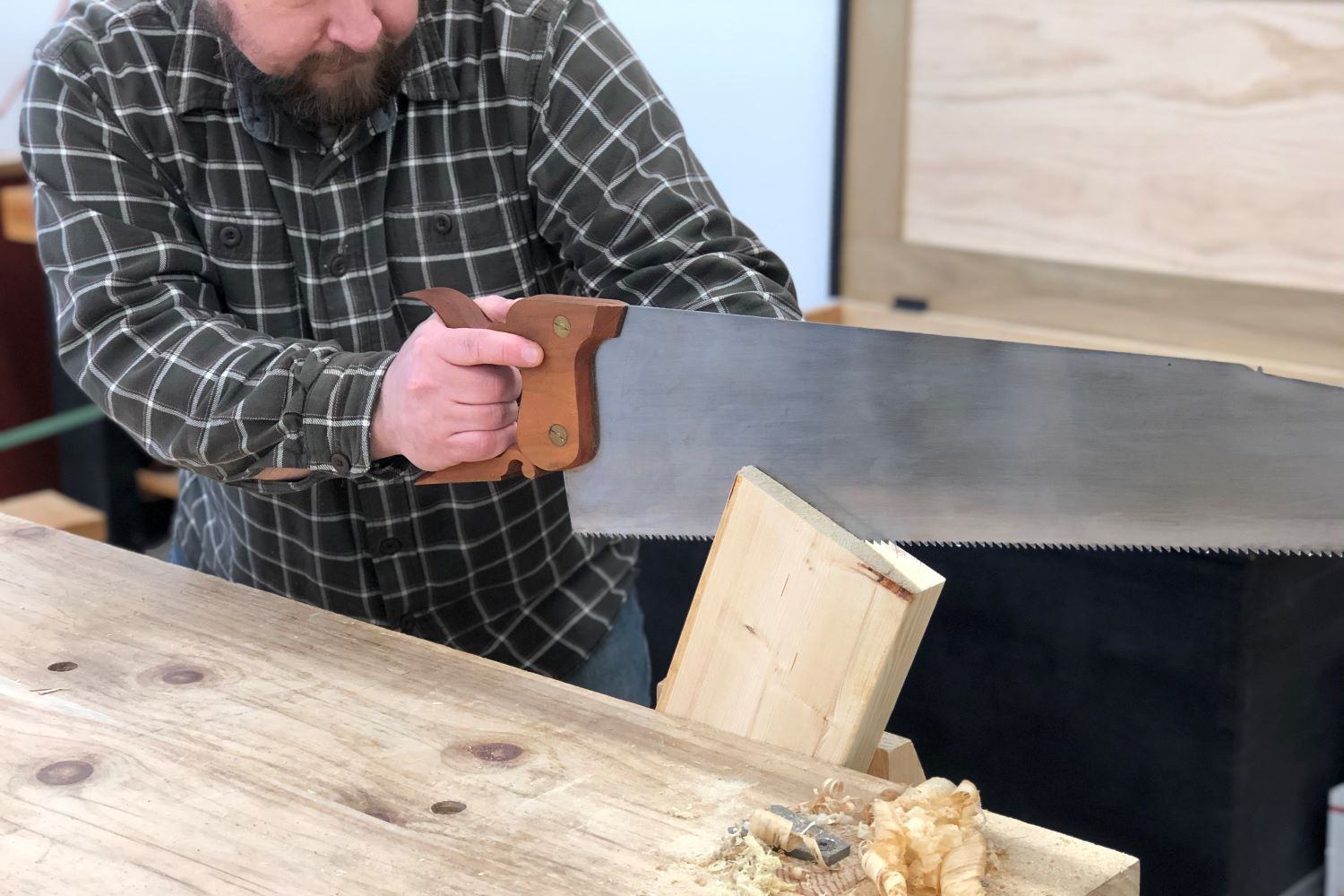 Resawing with a Hand Saw