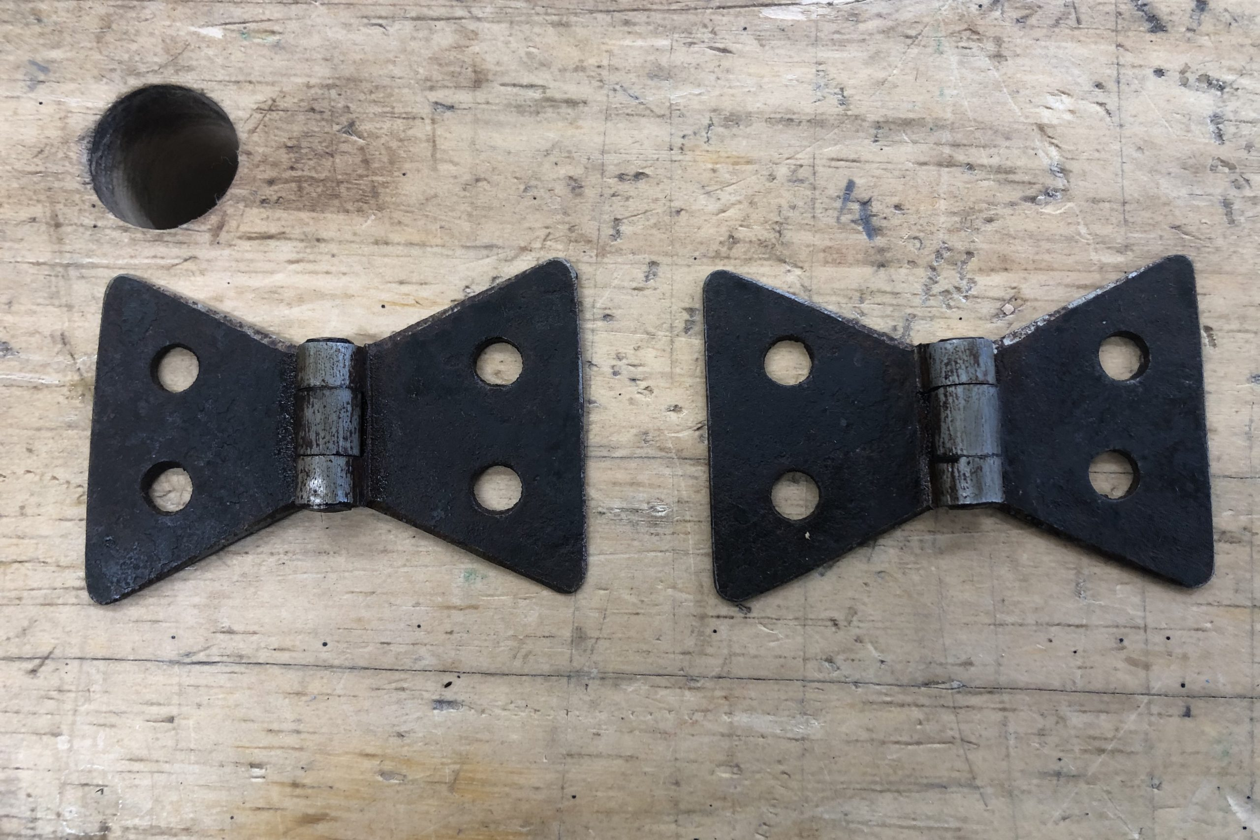 Hand Forged Hardware after Aging and Oiling