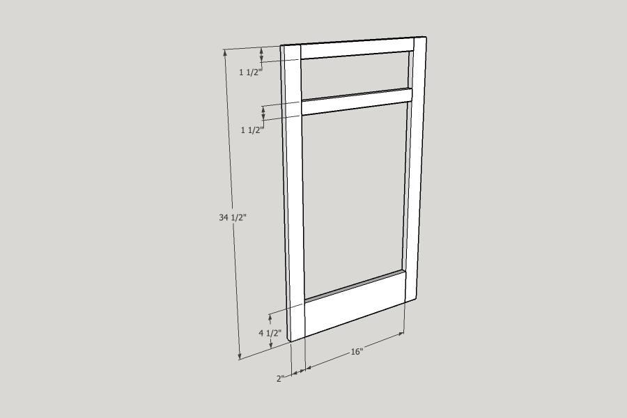 DIY Kitchen Cabinet Face Frame