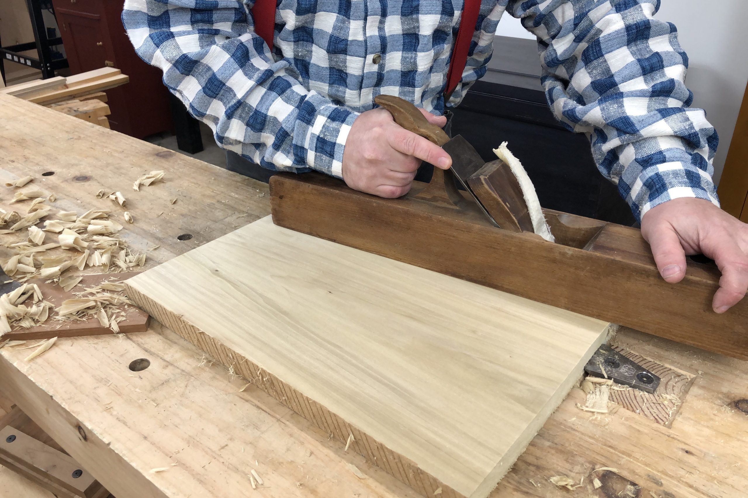 Planing the Face of a Board Flat with a Hand Plane